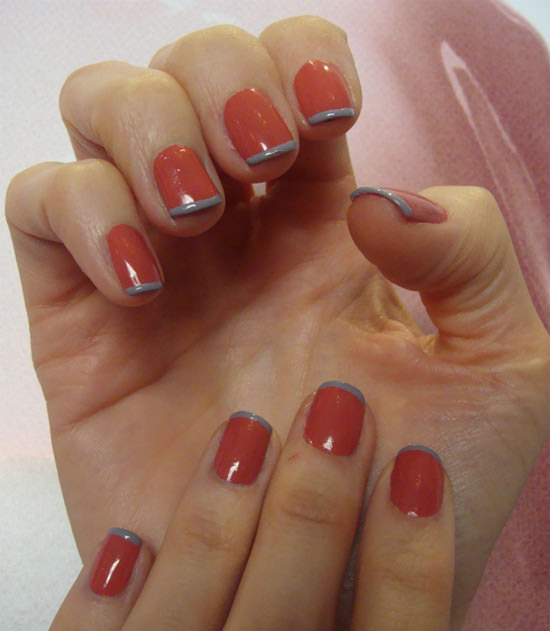 Manicura en madrid nails couture cosmetik - Manicura francesa colores ...