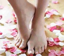 Luciendo pies