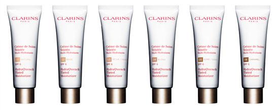 Gama de colores Crème de Soins Teintée de Clarins