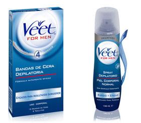 Bandas depilatorias y Spray de Veet Men