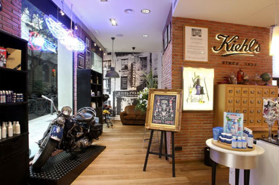 interior de la nueva tienda Kiehl´s en Barcelona