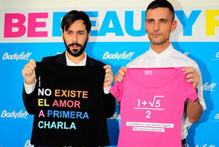 camisetas de Juanjo Oliva y David Delfín