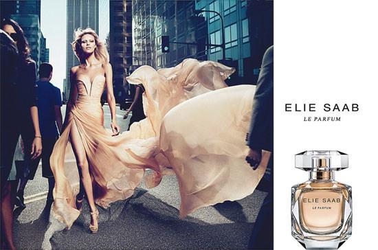 campaña publicitaria de el perfume de Elie Saab