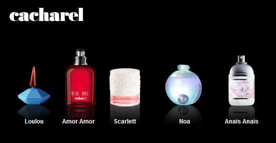 Perfumes de Cacharel