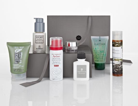 ejemplo de productos de Glossy Box para Hombre