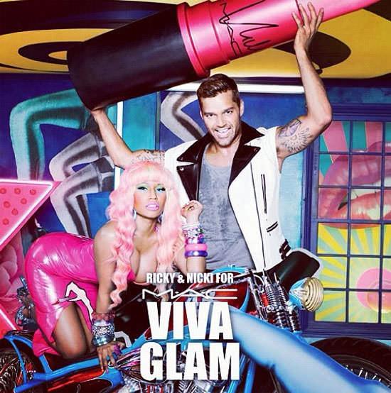 Ricky Martin y Nicki Minaj para viva glam de MAC