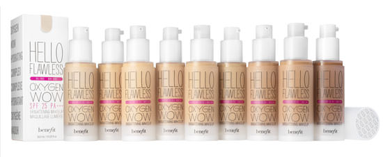 tonos base líquida Hello Flawless Oxigen Wow de Benefit