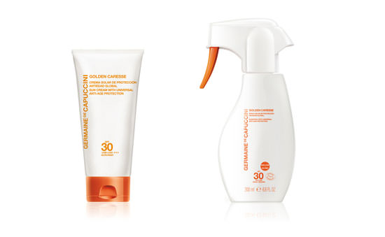 Crema solar de protección antiedad global y Spray solar
