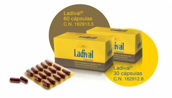 nutricosmética para tomar el sol de Ladival
