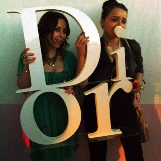 Arantza con Marisa en la fiesta de Dior