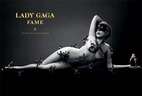 Lady Gaga desnuda para la publicidad de Fame