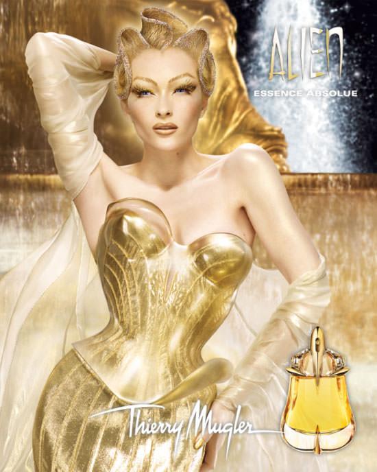 diosa dorada de Alien Essence Absolue de Thierry Mugler