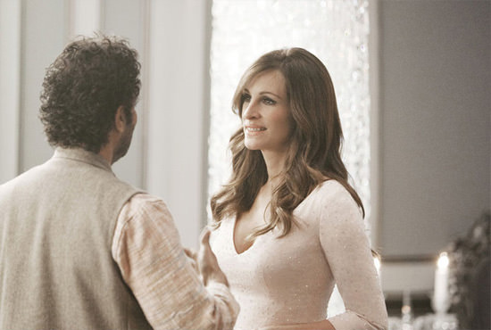 Julia Roberts en el making of