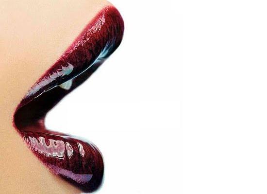 color burdeos para los labios