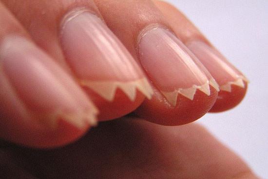 uñas de dientes para Halloween