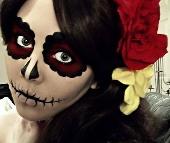 maquillaje mexicano para halloween