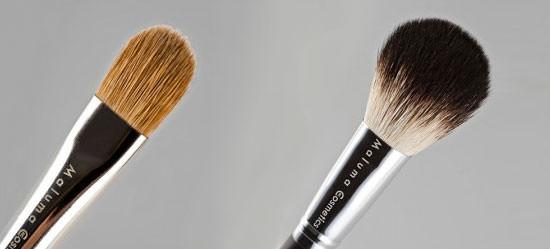 detalle de las brochas Maluma Cosmetics