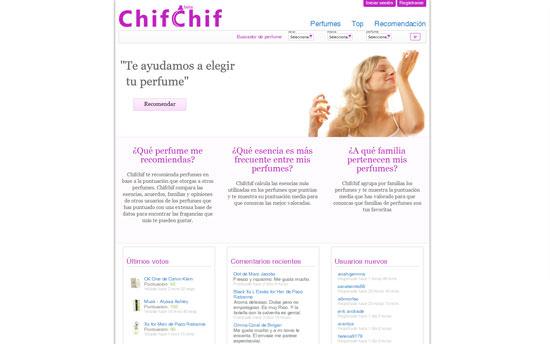 Elige tu perfume favorito con Chif Chif