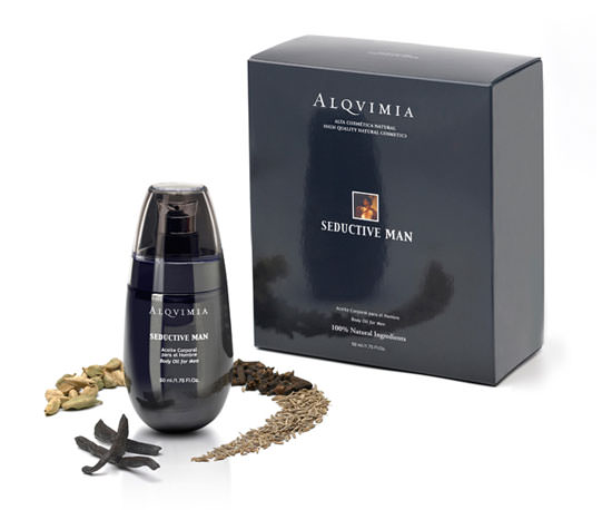 packaging Seductive Man de Alqvimia
