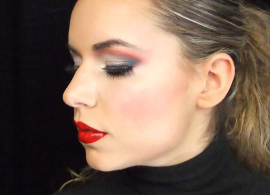 detalle Maquillaje carnaval: Glamour cabaret