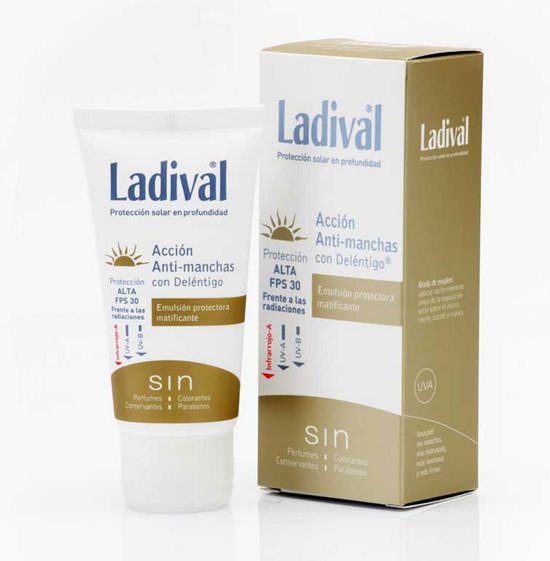 packaging Ladival protector solar antimanchas
