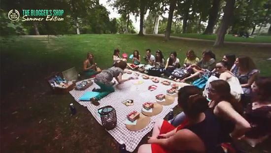 picnic en el parque del Retiro