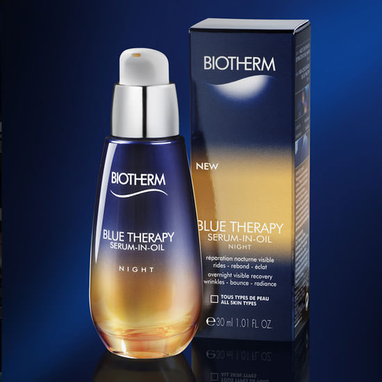 packaging Blue Therapy SerumIn Oil de Biotherm