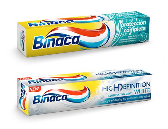 dos nuevas pastas de dientes de Binaca