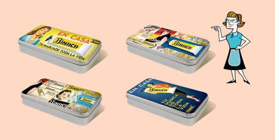 cajas metálicas con diseño retro