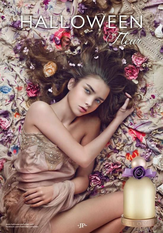 la modelo Josephine Svenningsen para Halloween Fleur