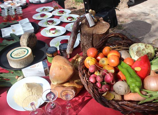 comida en Sant Salvador de Bianya con el chef Pep Nogué