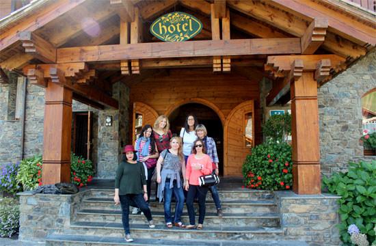 grupo de blogueras en hotel