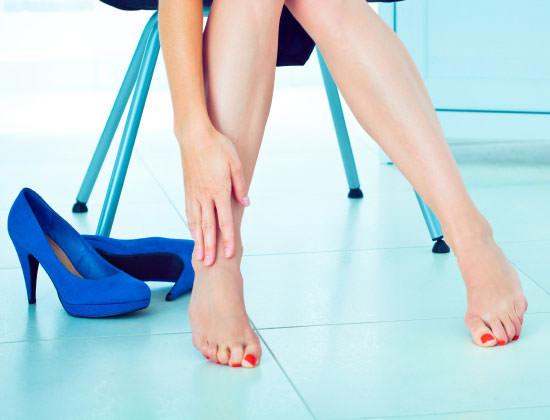 dolor de pies por los tacones