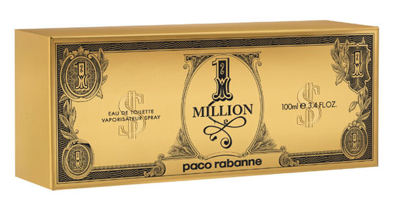 caja de Paco Rabanne 1 Million $