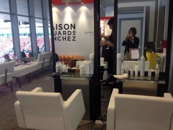 peluquería efímera en el Open de Madrid