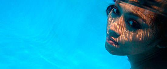 sin maquillaje bajo el agua