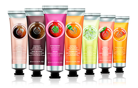 Cremas de manos de The Body Shop