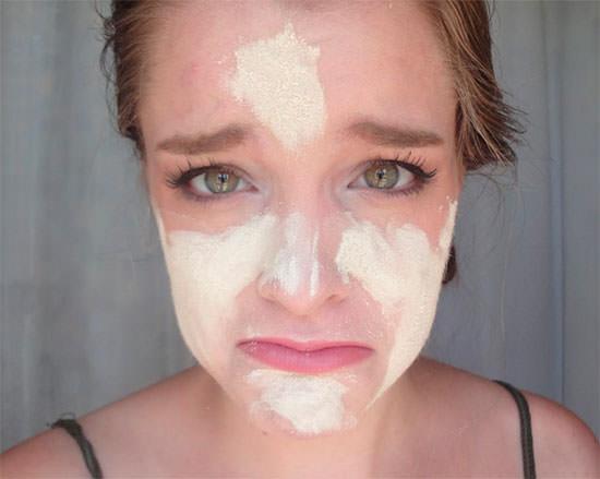 demasiada crema solar