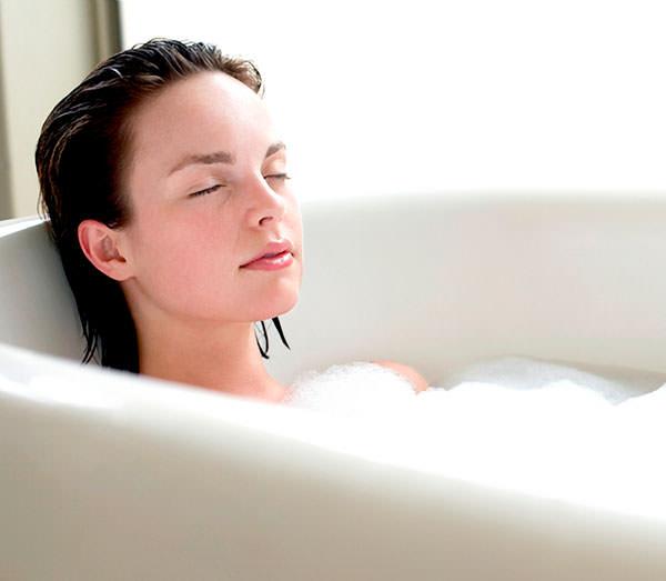 baño relajante en casa