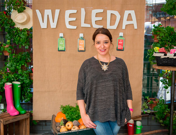 Arantza en el evento de Weleda