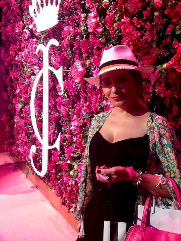 arantza en el evento de Juicy Couture