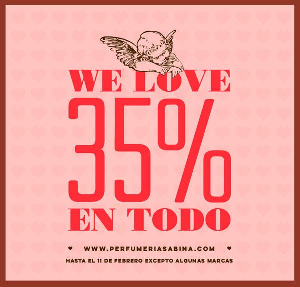 35% de descuento en San Valentín