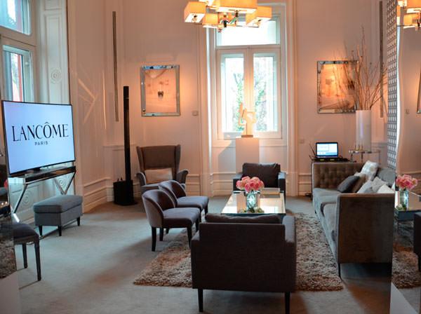 salón en La Maison Lancôme Madrid 2015