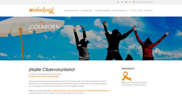 página web de #SaludySol