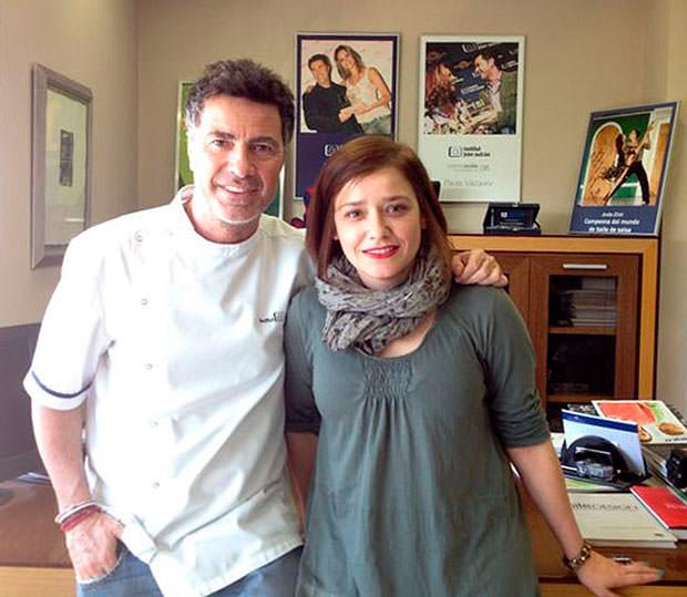 Joan Autrán con Arantza