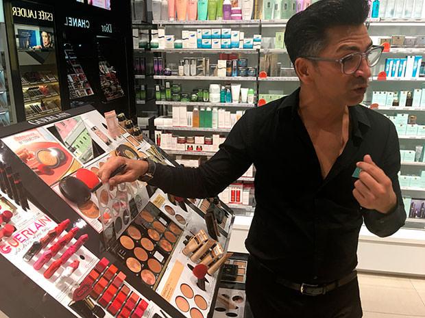 Eliecer Prince maquillador oficial Guerlain