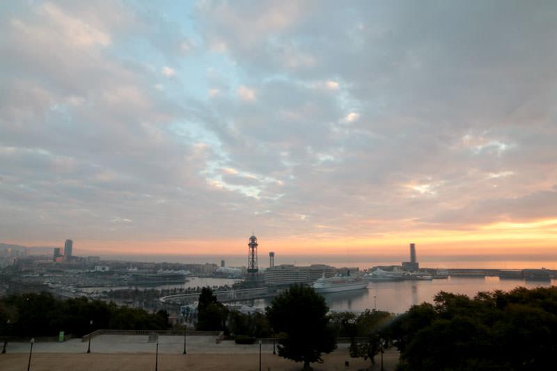 vistas desde el Hotel Miramar Barcelona