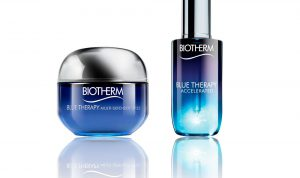 Blue Therapy de Biotherm, suero Accelerated y la crema Multidefender