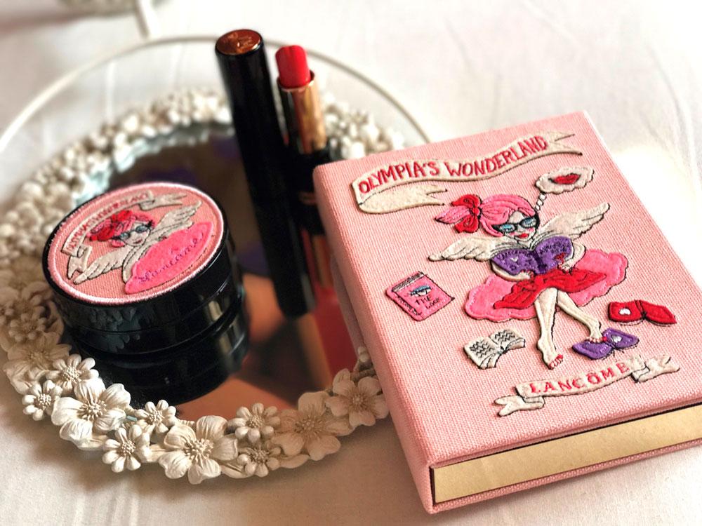 paleta de maquillaje de Olympia Le-Tan y Lancôme
