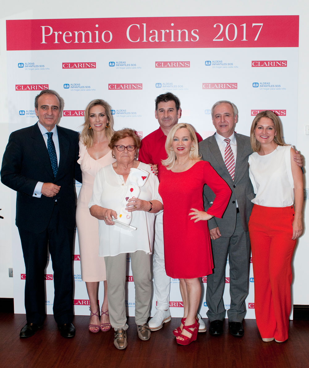Rosa Cufí en los Premio Clarins 2017